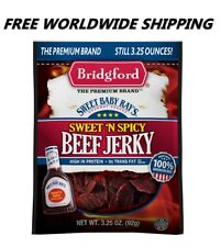Sweet Baby Ray's Sweet 'N Spicy Beef Jerky 3.25 Oz FREE WORLDWIDE SHIPPING