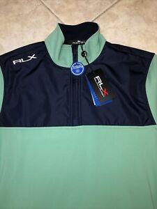 Ralph Lauren RLX Sand Hollow 1/4 Zip Golf Performance Pullover Green L NWT $168