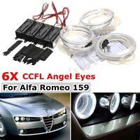 6x Led Ccfl Angel Eyes Halo Anelli Luci Fari Kit Per Alfa Romeo 159 2005-2011