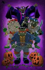 Universal Monsters Tmnt Teenage Mutant Ninja Turtles art print - Halloween decor
