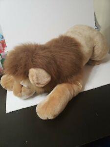 "Realistic Male Lion Plush 40"" Kids Preferred Stuffed Animal"