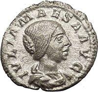 Julia Maesa Elagbalus Grandmother Silver Ancient Roman Coin Pudicitia i53223