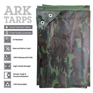 Camouflage Tarpaulins - Ultra-strong Rip Stop Eyelets - Multiple Sizes Available