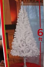 6 FT WHITE ROCKY MOUNTAIN PINE ARTIFICIAL CHRISTMAS VALENTINES DAY TREE UNLIT