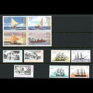 MICRONESIA 1985-93. 3 Sets. Canoes, Churches & Ships. Mint Never Hinged. (WG439)