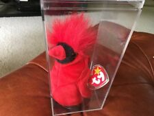 """Very Rare 4 Errors TY Beanie Baby """"MAC"""" Limited Edition Plastic Case Plastic Tag"""
