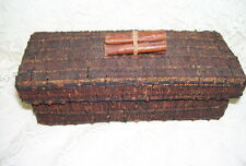 Handmade Antique Primitive Twig Box with Lid