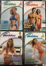 Set Of 3 Malibu Pilates DVDs And Guidebook
