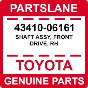 43410-06161 Toyota OEM Genuine SHAFT ASSY, FRONT DRIVE, RH