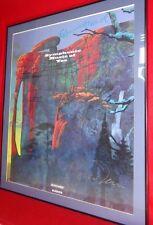 Symphonic Music of Yes Framed Poster signed Steve Howe, Bill Bruford, Roger Dean
