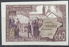 ENCLAVE PAPALE DE VALRÉAS N°1562 TIMBRE NON DENTELÉ IMPERF 1968 NEUF ** MNH