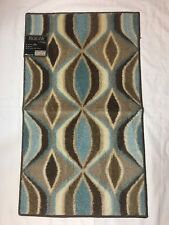 "Maples Highland Swindon Leaf Block Accent Rug 20"" x 34"" Skid resistant back New"