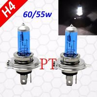 H4 9003 HB2 55W Halogen Headlight Light Bulbs 5000K Super White High/Low Beam