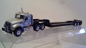 Mack Granite 3 axle tractor w/3 axle lowboy by First Gear 1:50 scale NIB