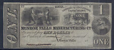 19th Century US Obsolete Currency - Munroe Falls Manufacturing Co, Ohio - $1 AU*