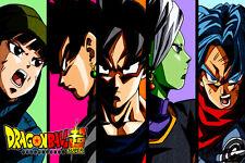 Dragon Ball Super Poster Goku Trunks Zamasu Black Mai 12in x 18in Free Shipping