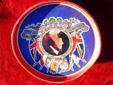 Vintage Circular Queen Elizabeth 11 Silver Jubilee biscuit tin 1952 - 1977