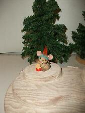Hallmark 1984 Merry Mini Indian Mouse With Real Feather & Headband/Drum Ns