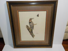 Ray Harm Print Lithograph FLICKER Signed Framed and Matted Print