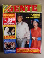 GENTE n°1-2 1985 Liz Taylor Gloria Guida - Inserto Lana Turner [D37]