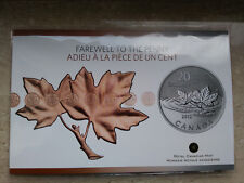 20 Dollar Canada - Farewell to the Penny - 2012 - Silber - Mit Zertifikat
