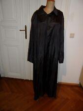 Theaterkostüm, schwarzer langer Mantel, Futterseide, OW - 140 cm, R-Schlitz,