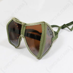 German Army TANKER GOGGLES and CASE - WW2 Panzer Tank Crew Glasses