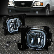 FOR 04-05 FORD RANGER SMOKED LENS BUMPER FOG LIGHT REPLACEMENT LAMPS W/SWITCH