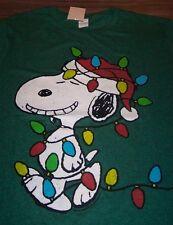 VINTAGE STYLE PEANUTS SNOOPY CHRISTMAS LIGHTS T-Shirt 2XL XXL NEW w/ TAG