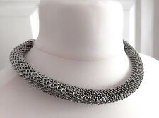 Stunning Silver Tone Fully Extendable Collar Statement Necklace Gift Idea!