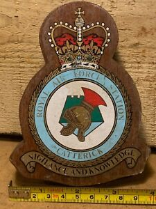 RAF Royal Air Force Station Catterick Wall Plaque - Vigilance & Knowledge
