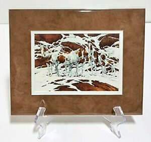Bev Doolittle PINTOS Double Matted Fits A standard 8x10 ready made frame