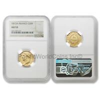 France 1813-A 20 Francs Gold NGC AU53