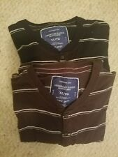 American Eagle Outfitters Lot of 2 Long Sleeve Vintage Fit Striped Shirts Sz XL
