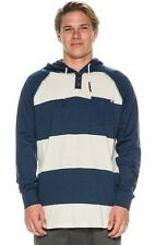 $49 NEW RIP CURL MEN DIRTY BIRD L/S Navy PULLOVER HOODED COTTON MEDIUM code X123
