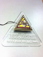 Blatz lighted beer sign 1983 bar light illuminated triangle infinity edge kc1