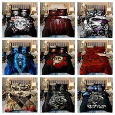 Skull Printed Soft Duvet Cover Set Twin Queen King Size Bedding Set Pillowsham