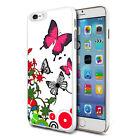For Various Phones Design Hard Back Case Cover Skin - Butterflies