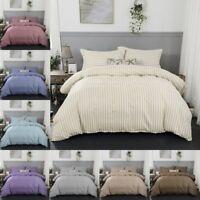 Stripey Bedding Sets Ultra Soft Duvet Quilt Comforter Cover Set Pillow Covers