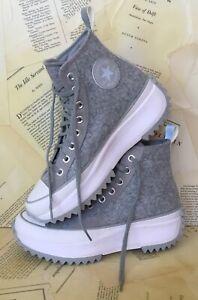 Converse Platform Sneaker Chuck Taylor Run Star Hike Gray Felt M8 W9.5 NEW