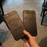 Black Matte Marvel's Cartoon Soft Phone Case For iPhone X 7 8 Plus iPhone 6 Plus