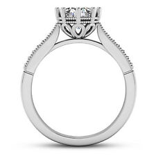 Solitaire Antique .77 Carat VS2/G Round Diamond Engagement Ring 14K White Gold