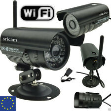 UK ! CCTV Network Wifi/Wireless IP Camera Outdoor Waterproof Security KIT