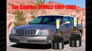 LED For Cadillac DEVILLE 1987-2005 Headlight Kit 9006 HB4 CREE Bulbs Low Beam