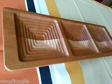 J.K. ADAMS VERMONT MAPLE WOOD TRAY APPETIZERS PLATTER  for mid century modern