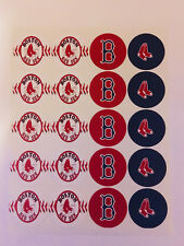 """20- 2"""" BOSTON RED SOX ADHESIVE STICKERS! cupcake toppers birthdays"""