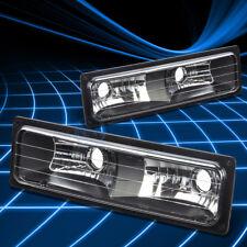 BLACK LENS BUMPER PARKING TURN SIGNAL LIGHT LAMP SET FOR 88-98 GMC C/K SIERRA