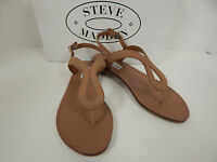 Steve Madden Takeaway Camel Nubuck Thong Sandals w/ Ankle Strap-Women's-New