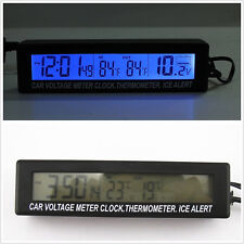 Car SUV Indoor/Outdoor Digital Voltmeter & Thermometer & Clock with Ice Alert