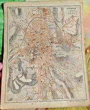 1930 the guide of the old town St Etienne Department 42 old map art print